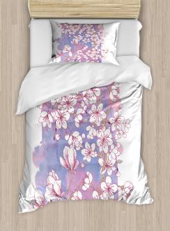 Japanese Spring Bloom Duvet Cover Set