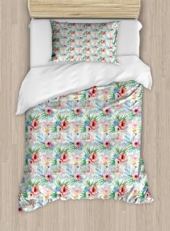 Exotic Parrot Flower Duvet Cover Set