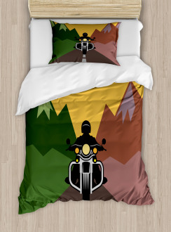 Rider in Mountains Duvet Cover Set