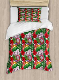 Exotic Botany Concept Duvet Cover Set