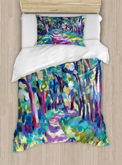 Woodland Nature Colorful Duvet Cover Set