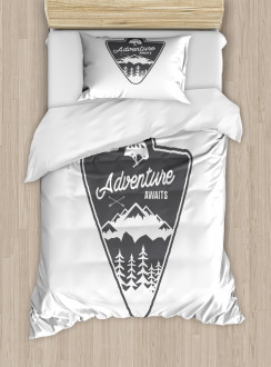 Camping and Hiking Duvet Cover Set