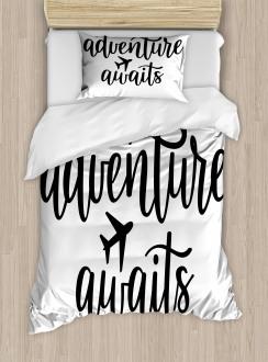 Travel Typography Duvet Cover Set