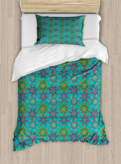 Colorful Abstract Petals Duvet Cover Set