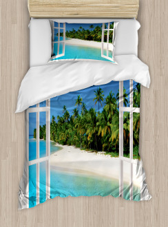 Paradise Island Palm Tree Duvet Cover Set