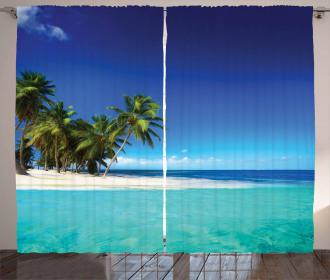 Seaside Nature Tropic Curtain
