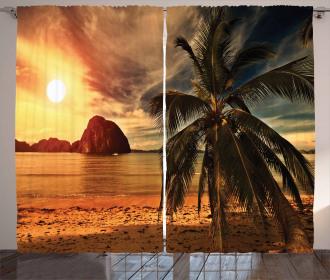 Havana Seashore Sunny Curtain