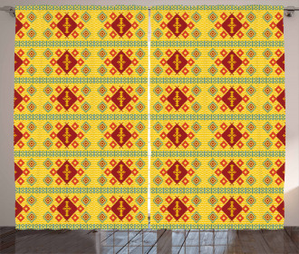 Ethnic Rhombuses Curtain