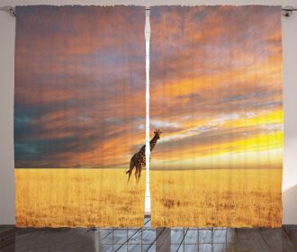 African Wildlife Curtain