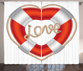 Valentine Love Hearts Curtain
