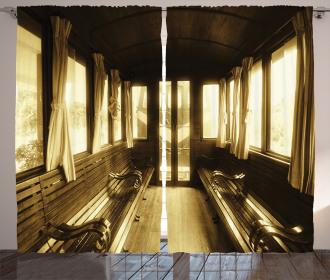 Old Vintage Train Salon Curtain