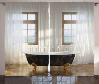Bathtub In Modern Room Curtain