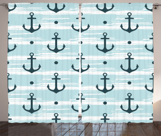 Pattern with Anchors Curtain