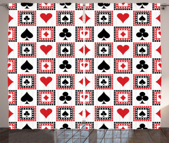 Icons of Playing Cards Curtain
