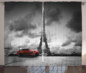 French Car Dark Clouds Curtain