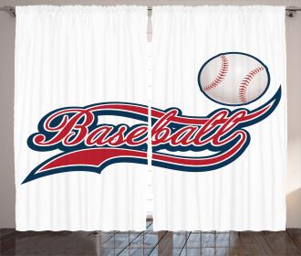 Baseball Ball Sports Curtain