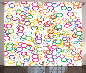 Colored Geometric Circle Curtain