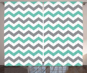 Geometric Wavy Zigzag Curtain