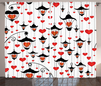 Lanterns and Hearts Curtain