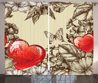 Flowers and Butterfly Curtain