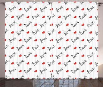 Love Valentines Day Curtain