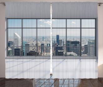 Big Window Downtown View Curtain