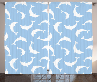 Pattern with Dolphins Curtain