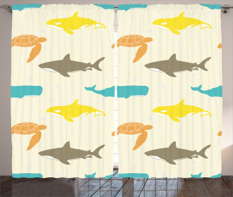 Whale Shark and Turtle Curtain