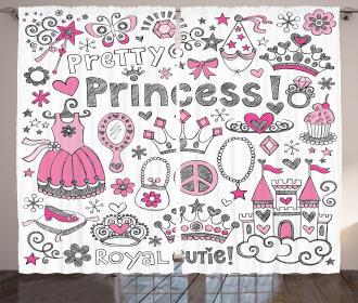 Fairy Tale Princess Tiara Curtain