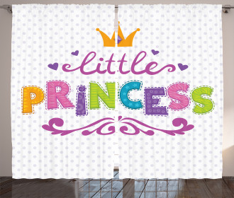 Little Princess Quote Curtain