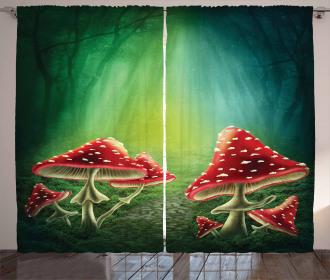 Mysterious Mushrooms Curtain