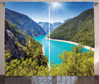 Piva Canyon Montenegro Curtain