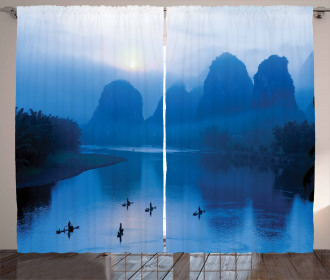 Sunrise Bamboo Raft China Curtain