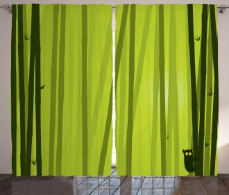 Botanical Wild Animal Curtain