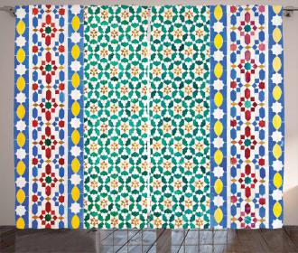 Colorful Mosaic Wall Curtain