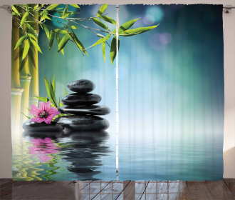 Hibiscus Bamboo on Water Curtain
