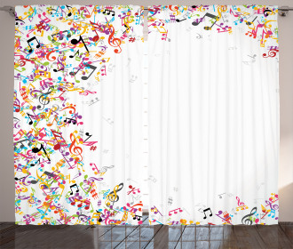 Colorful Festival Frame Curtain