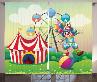 Clown Inflatable Ball Curtain