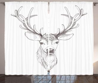 Sketch of Deer Head Curtain