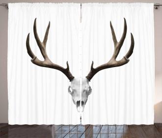 Deer Skull Skeleton Curtain