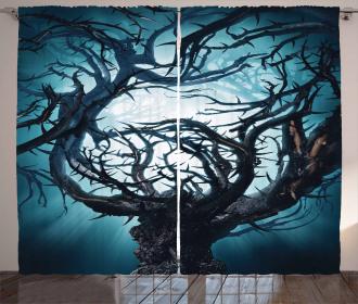 Night Big Mystic Tree Curtain