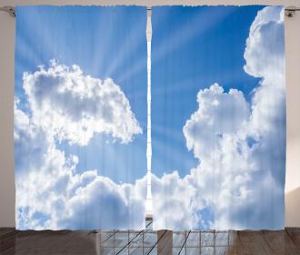 Artistic Clouds Scenery Curtain