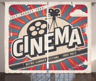 Vintage Cinema Movie Star Curtain