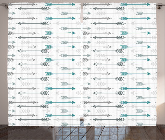 Arrow Pattern Horizontal Curtain