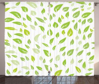 Summer Spring Garden Leaf Curtain