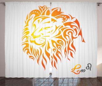 Leo Horoscope Sign Curtain
