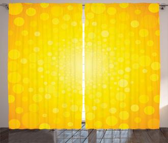 Sunrise Polka Abstract Curtain