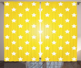 Vibrant Stars Fun Retro Curtain