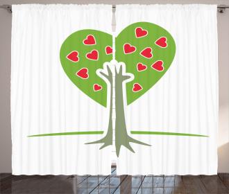 Hand and Hearts Tree Curtain