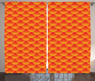 Abstract Fish Scales Curtain